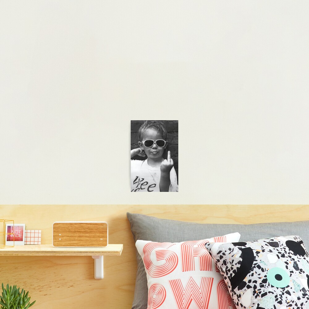 Boy Sticking His Tongue Out Photographic Print