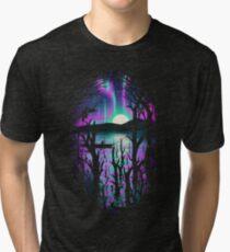 Night With Aurora Tri-blend T-Shirt