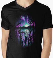 Night With Aurora Men's V-Neck T-Shirt