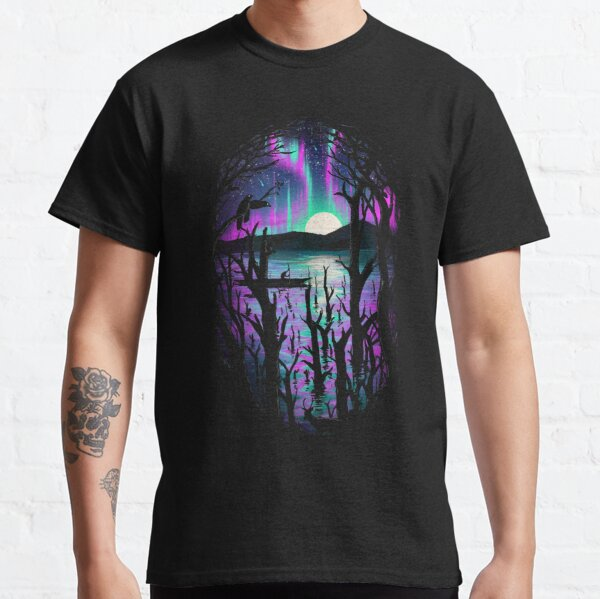 Night With Aurora Classic T-Shirt