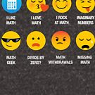 I Love Like Math Emoji (emoticon) Funny Social Sayings Graphic by DesIndie
