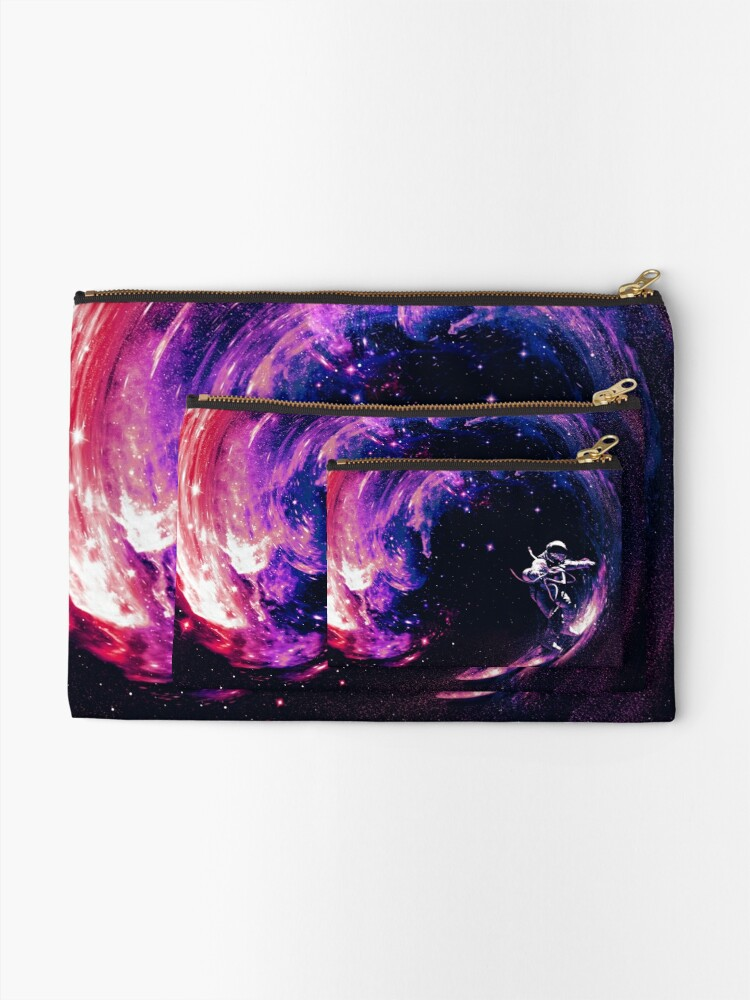 Alternate view of Space Surfing II Zipper Pouch