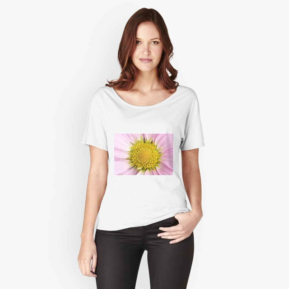 Pink Flower Women's Relaxed Fit T-Shirt Front