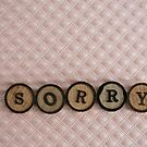 really, really.... sorry by Hege Nolan