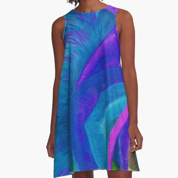 Splaaash!!!!! - Into the DEEP BLUES A-Line Dress