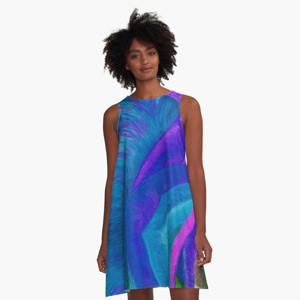 Splaaash!!!!! - Into the DEEP BLUES A-Line Dress Front