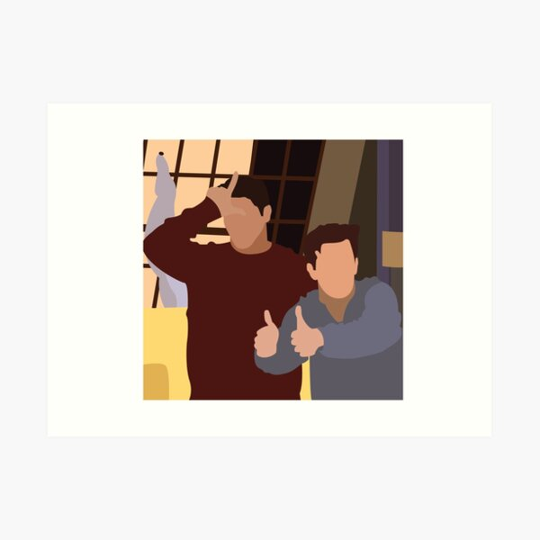 Chandler & Joey Art Print