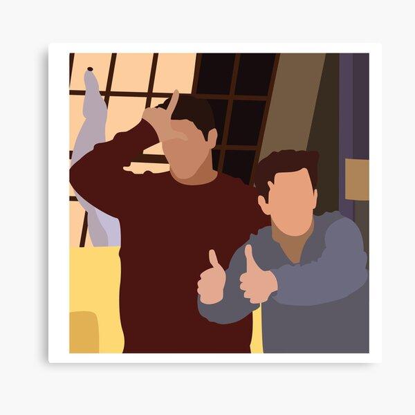 Chandler y Joey Lienzo