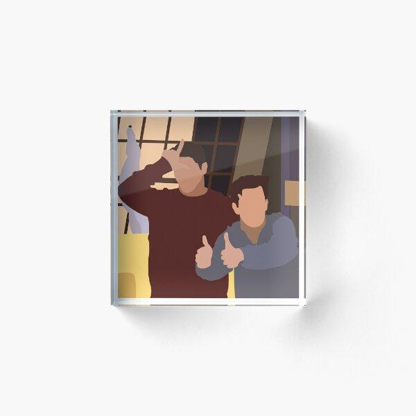 Chandler & Joey Acrylic Block