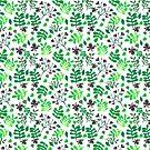 « Collage pattern, the White version » par Mireille  Marchand