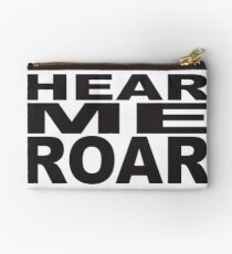 HEAR ME ROAR Pop Art Studio Pouch