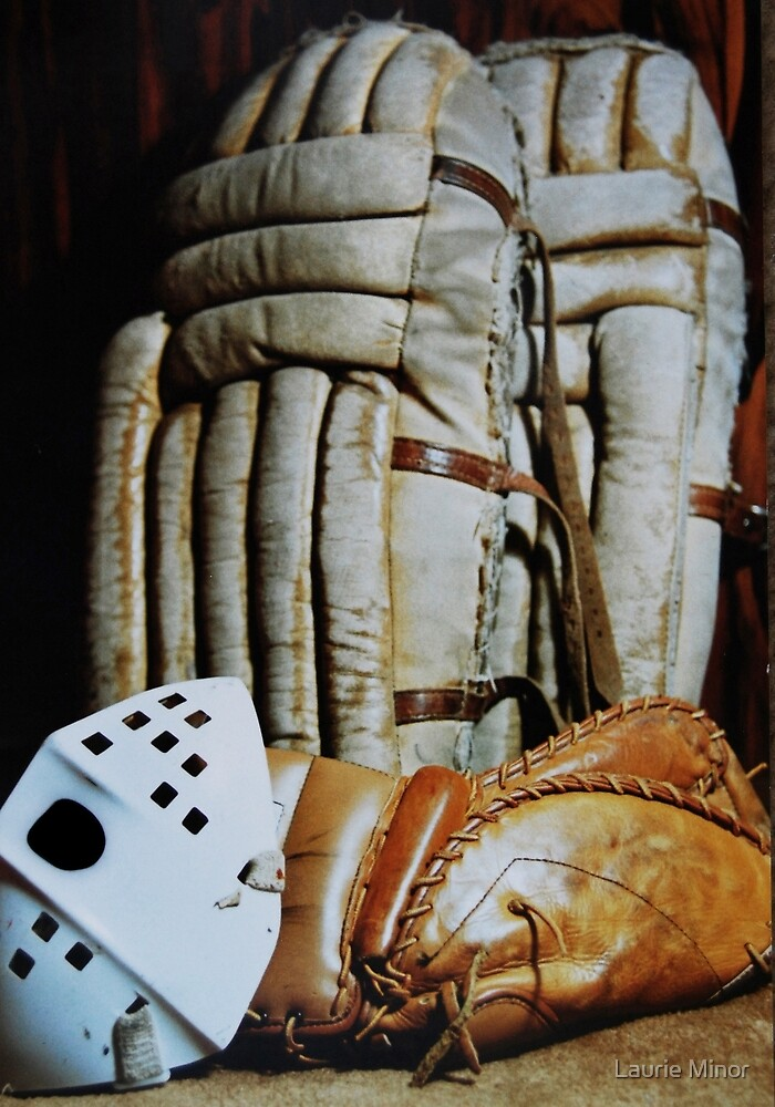 Vintage Hockey Goalie Equipment By Laurie Minor Redbubble