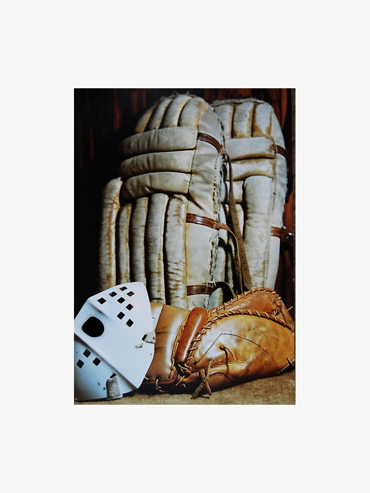 Vintage Hockey Goalie Equipment Photographic Print By Laurieminor