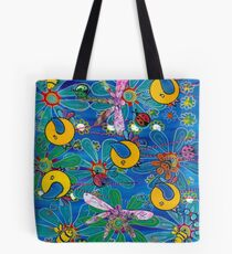 Flapsody on Blue Tote Bag