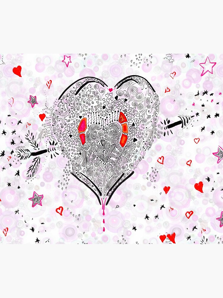 Heart overflowing valentines clothing and decor tile pattern 1 by rvalluzzi