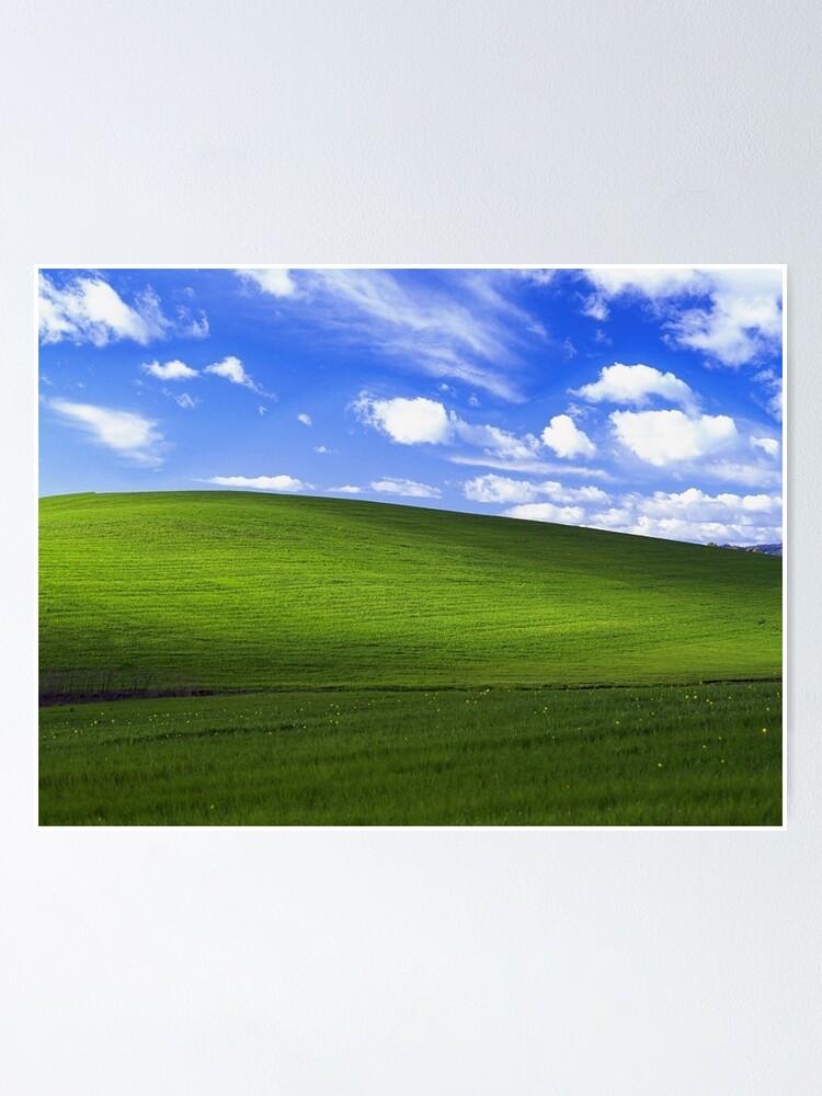 Poster Bliss Windows Xp Fond D Ecran Par Carrotcakes Redbubble