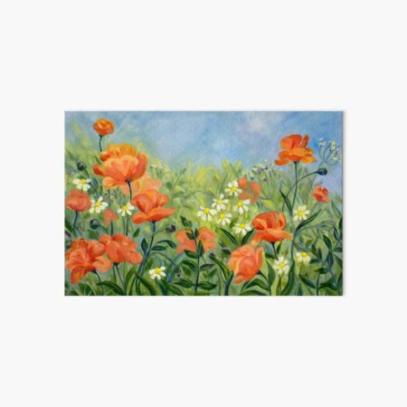 Glorious Poppies original Art Board Print
