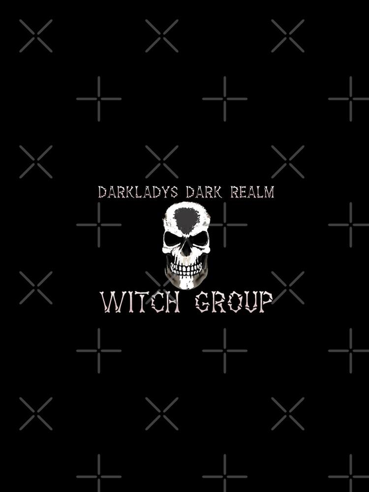 Darkladys Dark Realm Witch Group with White words by WFP87