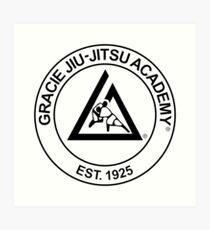 Gracie Jiu-Jitsu Academy Art Print