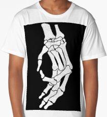 Skeleton Hand Meme Long T-Shirt