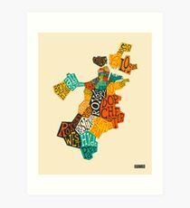 BOSTON NEIGHBORHOODS Art Print
