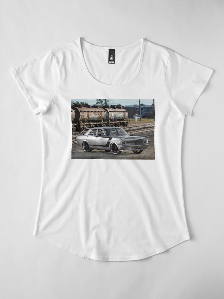 Alternate view of Steve Santos' XY Ford Falcon Premium Scoop T-Shirt
