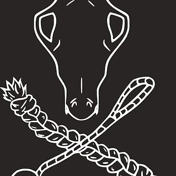 Skull n Crossbones White by Laracoa