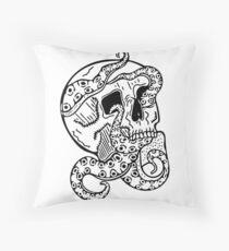 Tentacle Skull Throw Pillow