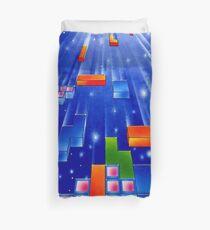 Falling Tetris Blocks Duvet Cover