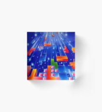Falling Tetris Blocks Acrylic Block