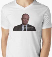 i stopped caring a long time ago V-Neck T-Shirt