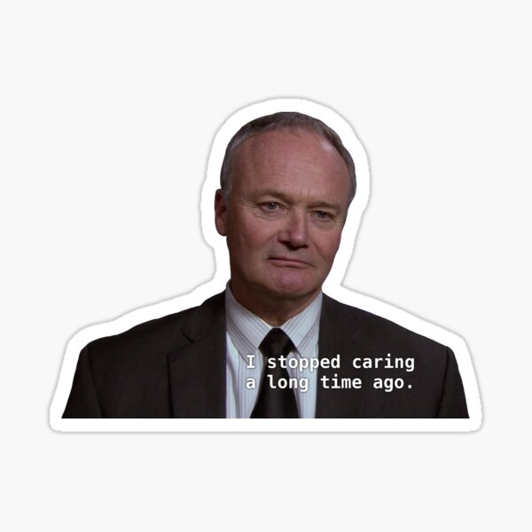 i stopped caring a long time ago Sticker