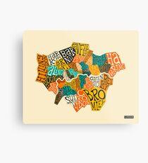 LONDON BOROUGHS MAP Metal Print