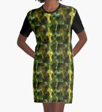 Yellow Flowers Graphic T-Shirt Dress