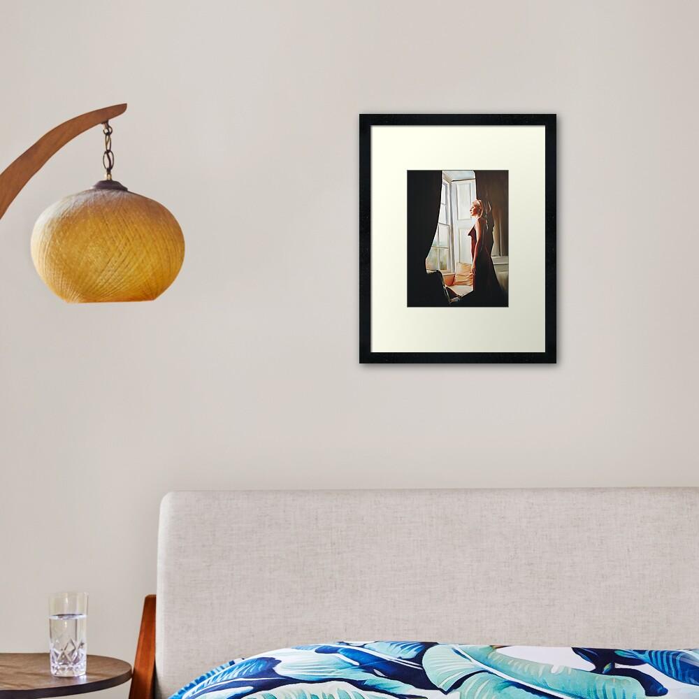Await Framed Art Print