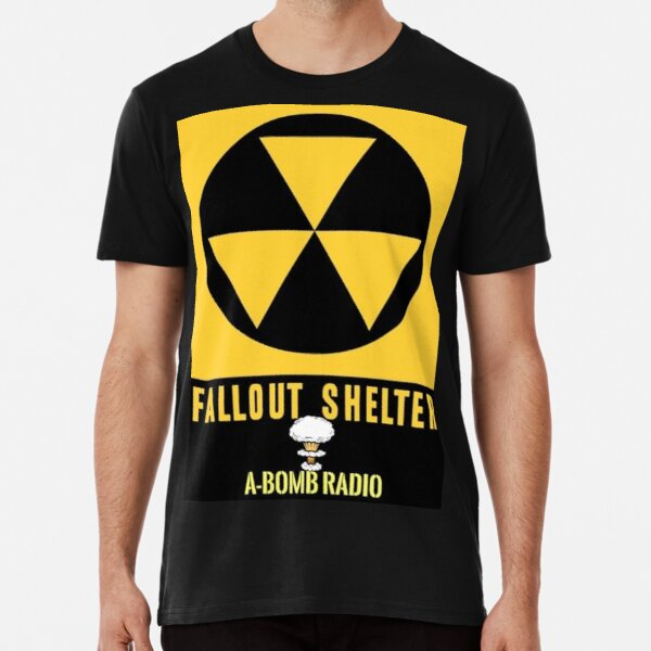 A-Bomb Radio Fallout Shelter Tee & Poster Design  Premium T-Shirt