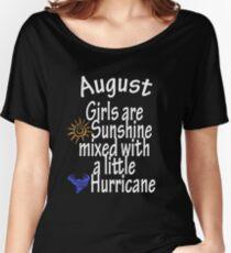 Camiseta ancha para mujer Las chicas de agosto se mezclan con una pequeña camiseta de huracán, camiseta, sudadera con capucha, una idea de regalo