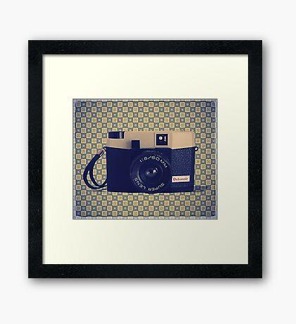 Debonair Plastic Camera - Vintage Color Framed Print