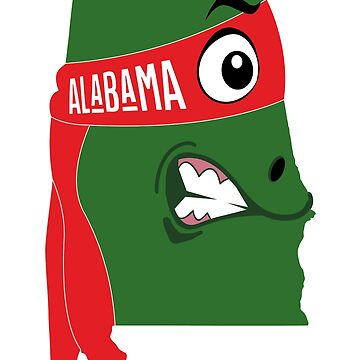 A funny map of Alabama by funnymaps