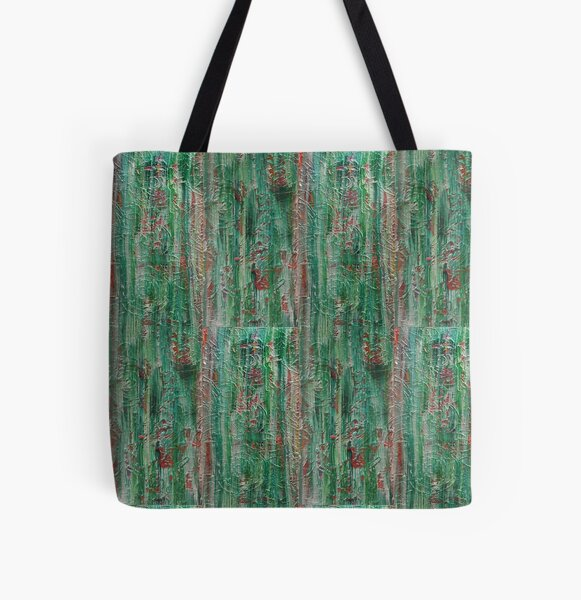 Old fashioned Tapestry (Jade) All Over Print Tote Bag