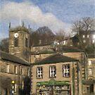 Holmfirth - Watercolour Effect by Glen Allen