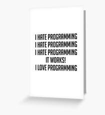 Ich liebe Programmierung Grußkarte