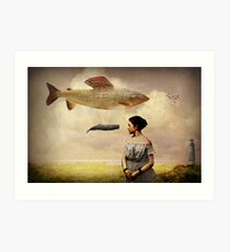 Whale watching Art Print