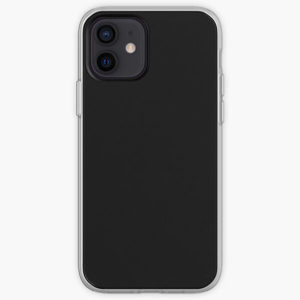 Plain Solid Black iPhone Soft Case