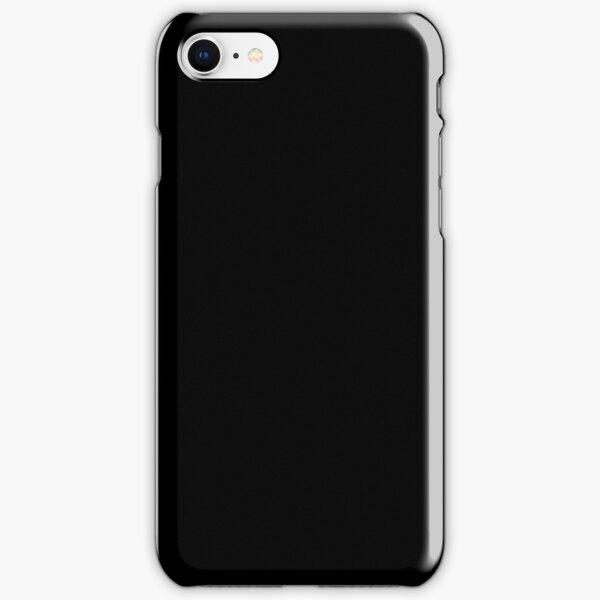 Plain Solid Black iPhone Snap Case