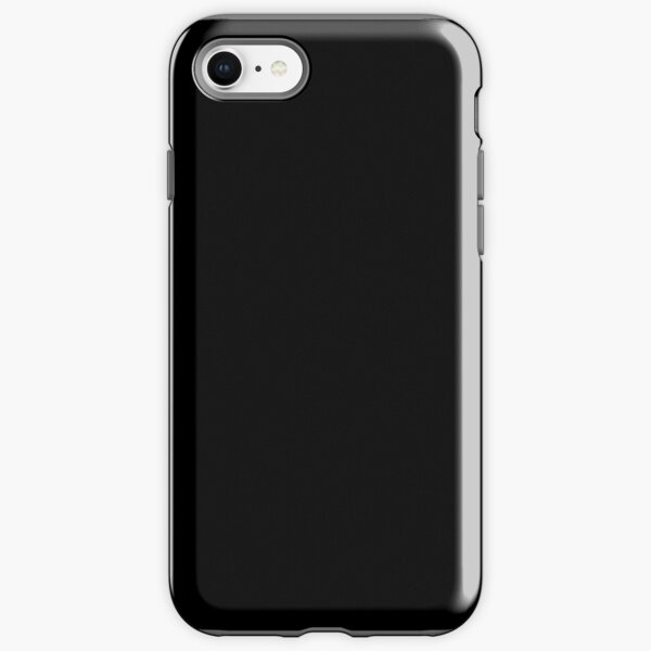 Plain Solid Black iPhone Tough Case