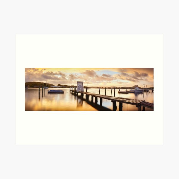 Davistown Jetty, New South Wales, Australia Art Print
