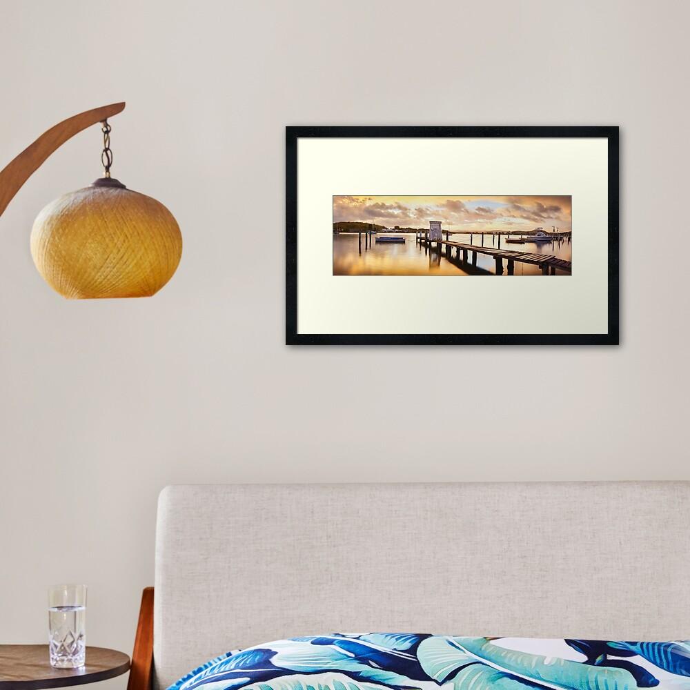 Davistown Jetty, New South Wales, Australia Framed Art Print