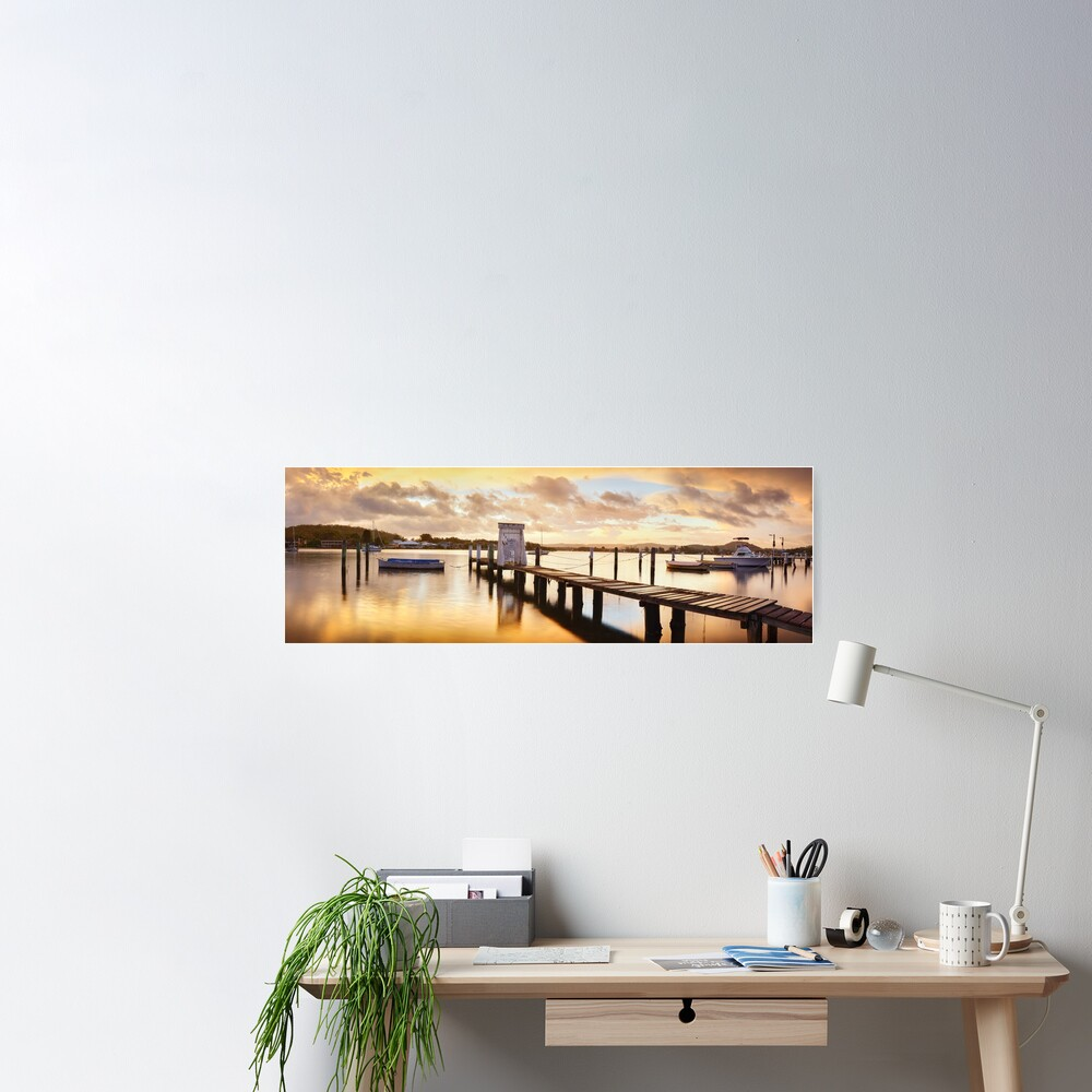 Davistown Jetty, New South Wales, Australia Poster