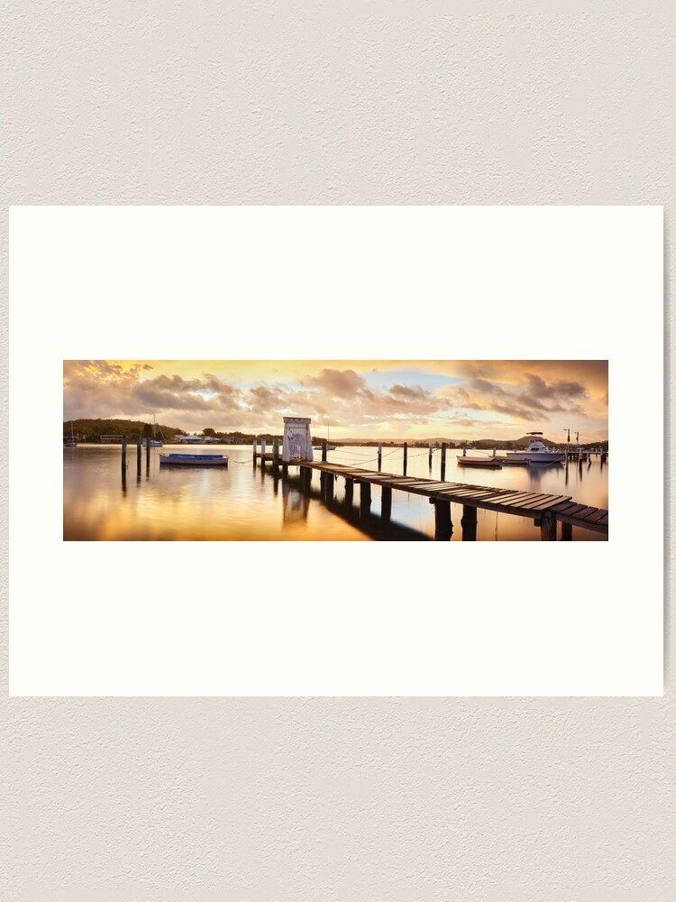 Alternate view of Davistown Jetty, New South Wales, Australia Art Print